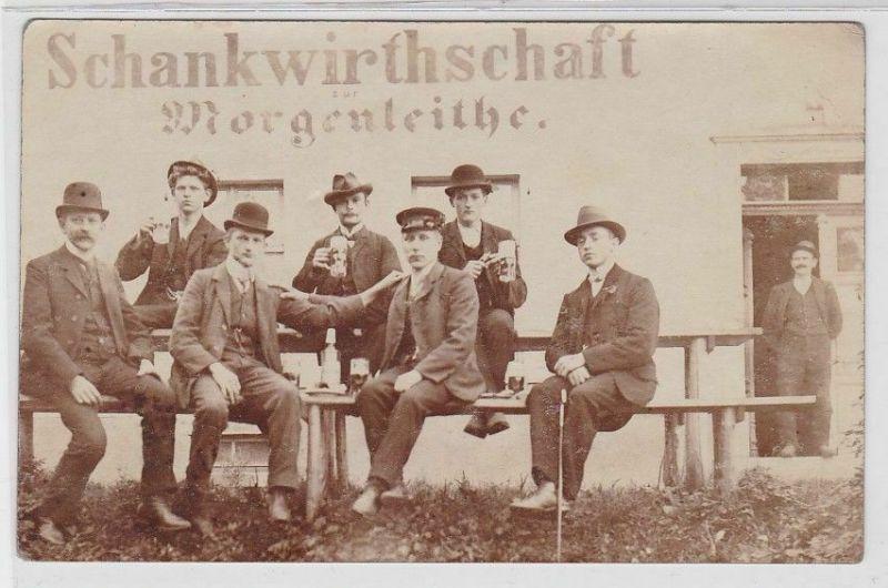 92449 Foto Ak Morgenleithe Schankwirtschaft um 1910