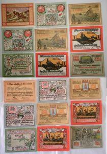 9 Banknoten Notgeld Stadt Westerland Sylt 1920 (132589)