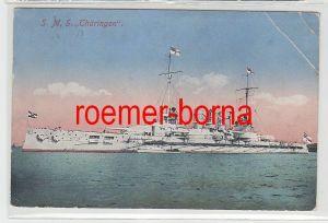 14849 Feldpost Ak Marineschiffspoststempel Nr.23 S.M.S Ostfriesland 1916