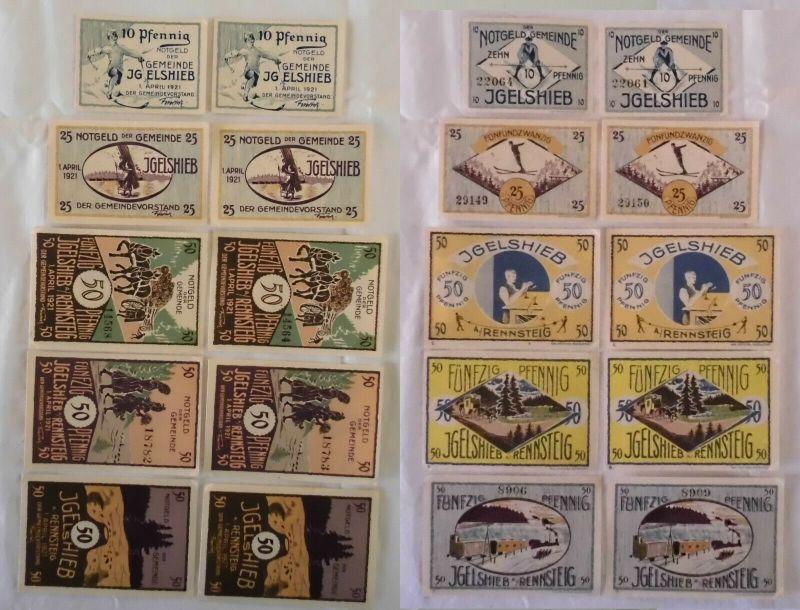 10 Banknoten Notgeld Gemeinde Igelshieb 1.4.1921 (133136)