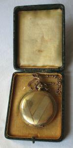 Alte Gold Double Taschenuhr von Rodi& Wienenberger 1935-40 (116986)