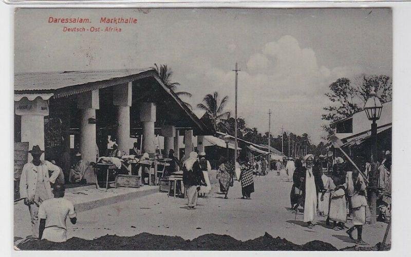 81436 AK Daressalam - Markthalle in Deutsch-Ost-Afrika