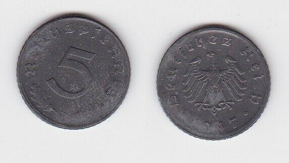 5 Pfennig Zink Münze alliierte Besatzung 1947 D Jäger 374 (130711)