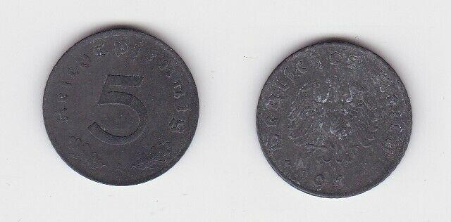 5 Pfennig Zink Münze alliierte Besatzung 1947 A Jäger 374 (130798)