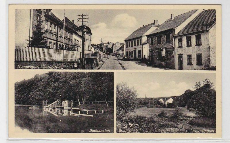 92317 Mehrbild Ak Nonnweiler Badeanstalt, Viadukt usw. 1938