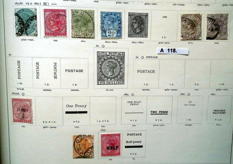 Schöne hochwertige Briefmarkensammlung Natal Britische Besitzung ab 1874