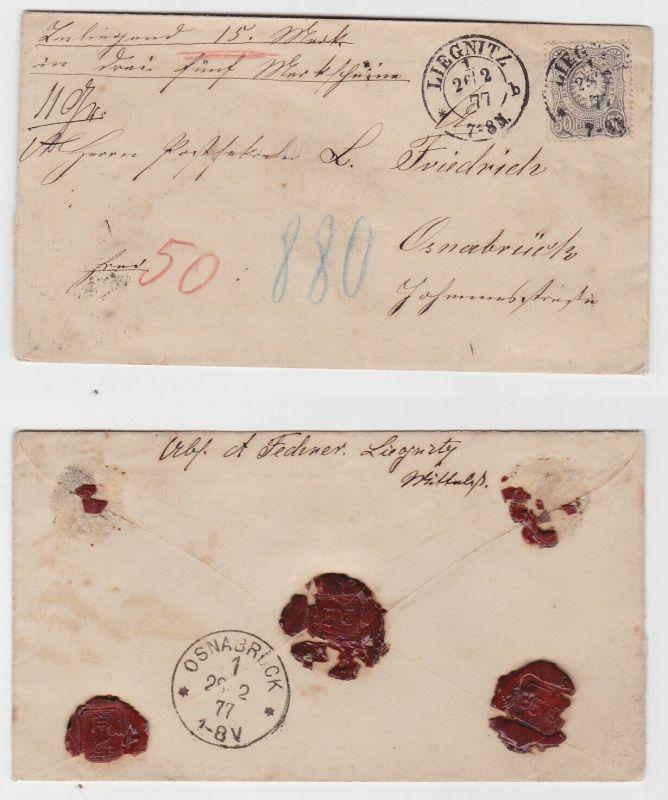 Wert Brief von Liegnitz nach Osnabrück Michel Nr. 36, 26.2.1877 (122746)