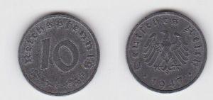 10 Reichspfennig Zink Münze 3.Reich 1947 F Jäger 375 (130758)