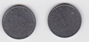 10 Reichspfennig Zink Münze 3.Reich 1947 A Jäger 375 (130799)