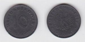 10 Reichspfennig Zink Münze 3.Reich 1947 A Jäger 375 (130088)