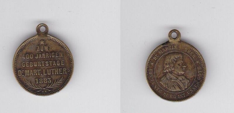Seltene Medaille Zum 400 jährigen Geburtstage Dr. Martin Luther's 1883 (132444)