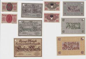 5 Banknoten Notgeld Stadt Geislingen 1918 Kriegs-Notgeld (132883)