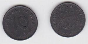 10 Reichspfennig Zink Münze 3.Reich 1947 A Jäger 375 (130087)