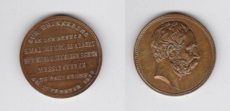 Medaille Besuch König Albert Schneider'sche Messingwerke Paunsdorf 1900 (132421)