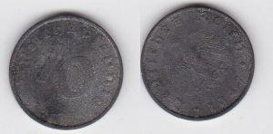 10 Reichspfennig Zink Münze 3.Reich 1947 A Jäger 375 (130760)