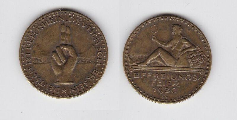 Medaille Befreiungsfeier Weimar 1930 Neptun und Dreizack Schwurhand (132415)