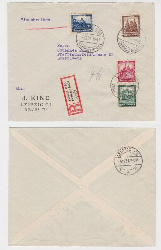 Einschreiben Brief Leipzig Kaufhaus Brühl Michel Nr. 459-462, 1931(132339)