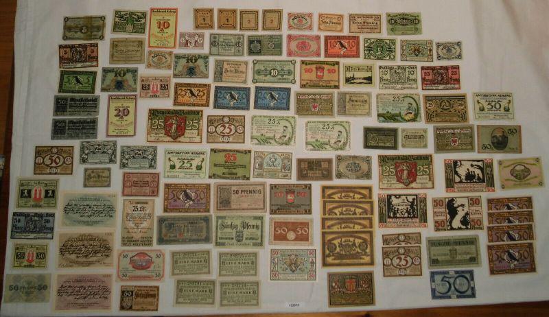 Sammlung mit 100 Banknoten Notgeld Deutsches Reich um 1921 (132913)