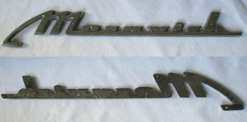 Moskvich Firmen Metall Plakette um 1980 (112668)