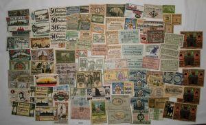 Sammlung mit 100 Banknoten Notgeld Deutsches Reich um 1921 (132420)