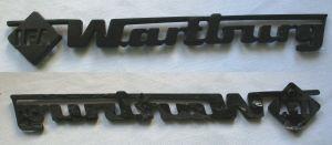 Wartburg Firmen Kunststoff Plakette IFA Werk um 1980 (118879)