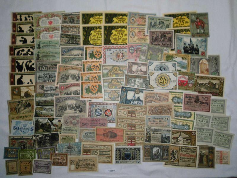 Sammlung mit 100 Banknoten Notgeld Deutsches Reich um 1921 (132261)