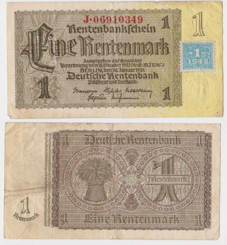 1 Mark Banknote DDR Deutsche Notenbank 1948 Kuponausgabe Ro.Nr.330 b (131821)