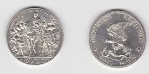 3 Mark Silber Münze Preussen