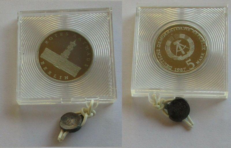 DDR Gedenk Münze 5 Mark 750 Jahre Berlin Rotes Rathaus 1987 PP (132196)