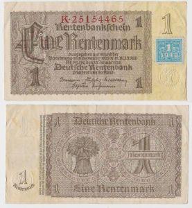 1 Mark Banknote DDR Deutsche Notenbank 1948 Kuponausgabe Ro.Nr.330 b (131814)