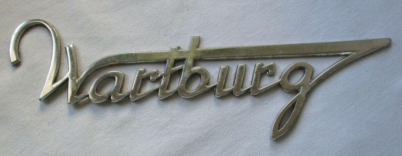 Wartburg Firmen Blech Plakette VEB Automobilwerk Eisenach um 1970 (110424)