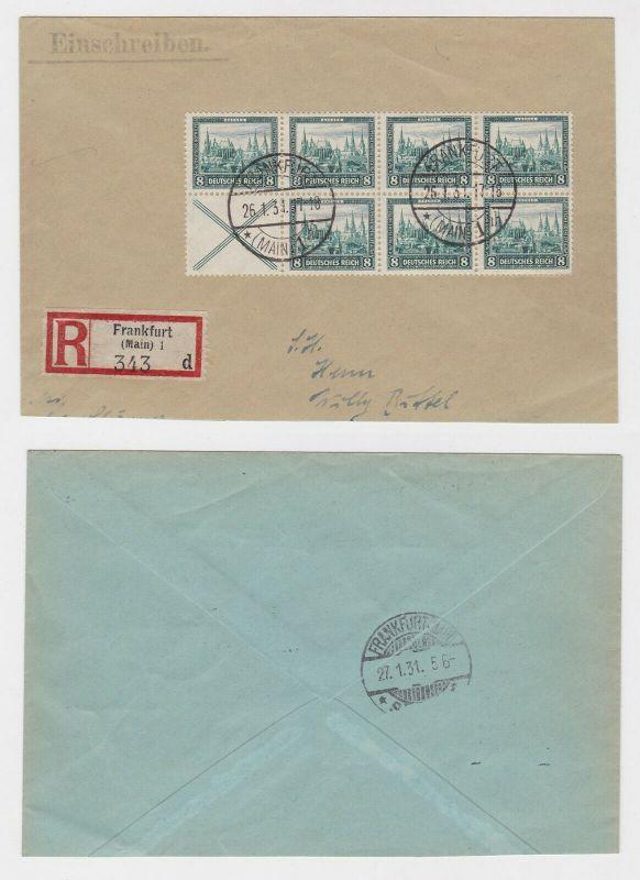 Einschreiben Brief Deutsche Nothilfe Markenheft mit 7 x Michel Nr. 450 (132948)