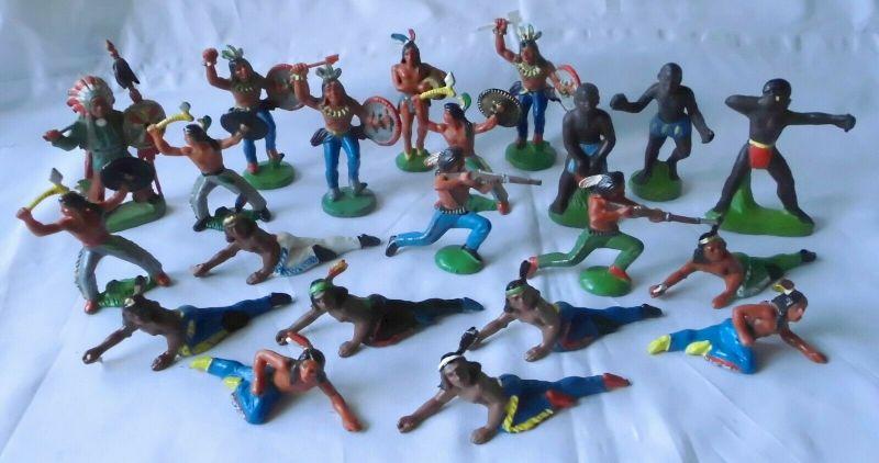 21 DDR Spielzeug Figuren Indianer Afrikaner usw. (109969) 0