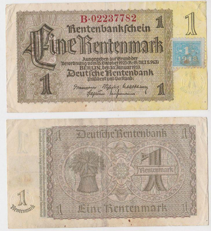 1 Mark Banknote DDR Deutsche Notenbank 1948 Kuponausgabe Ro.Nr.330 b (132295)