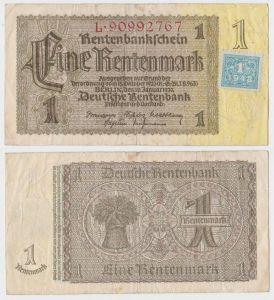 1 Mark Banknote DDR Deutsche Notenbank 1948 Kuponausgabe Ro.Nr.330 b (132298)