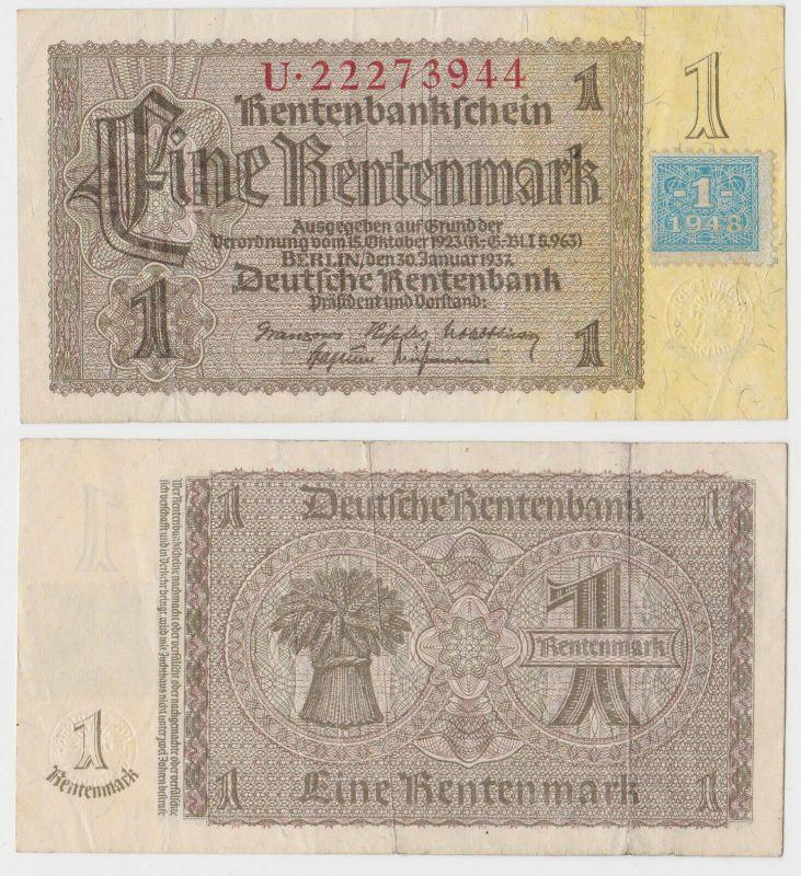 1 Mark Banknote DDR Deutsche Notenbank 1948 Kuponausgabe Ro.Nr.330 b (132315)