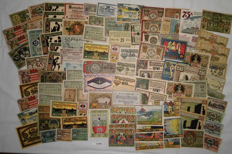 Sammlung mit 100 Banknoten Notgeld Deutsches Reich um 1921 (132265)