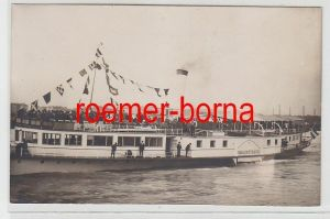 73560 Foto Ak Dampfer Johann Strauss um 1920