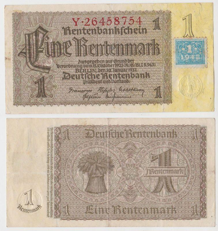 1 Mark Banknote DDR Deutsche Notenbank 1948 Kuponausgabe Ro.Nr.330 b (132294)