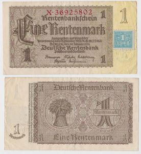1 Mark Banknote DDR Deutsche Notenbank 1948 Kuponausgabe Ro.Nr.330 b (131803)
