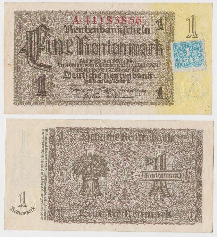 1 Mark Banknote DDR Deutsche Notenbank 1948 Kuponausgabe Ro.Nr.330 b (131802)