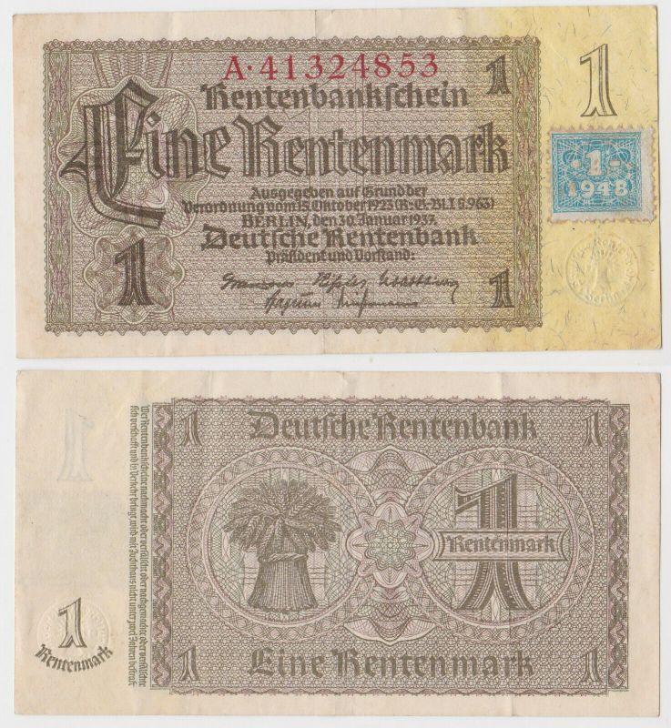 1 Mark Banknote DDR Deutsche Notenbank 1948 Kuponausgabe Ro.Nr.330 b (132160)