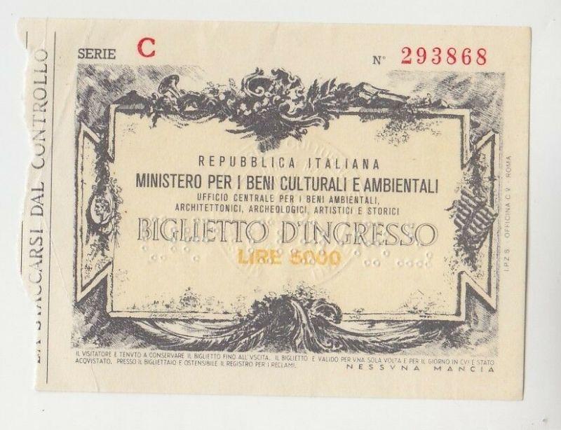 5000 Lire Italien Ministero per i Beni Culturalo e Ambientali (113568)