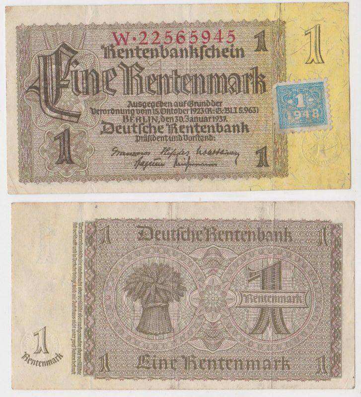 1 Mark Banknote DDR Deutsche Notenbank 1948 Kuponausgabe Ro.Nr.330 b (132157)