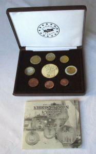 Kursmünzsatz KMS Euro Proben Zypern 2004 im Originaletui (131717)