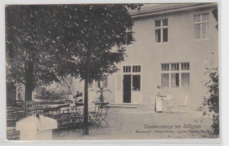 87298 Ak Oberweinberge bei Züllichau Sulechów Restaurant 1916