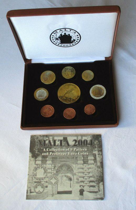 Kursmünzsatz KMS Euro Proben Malta 2004 im Originaletui (132328)