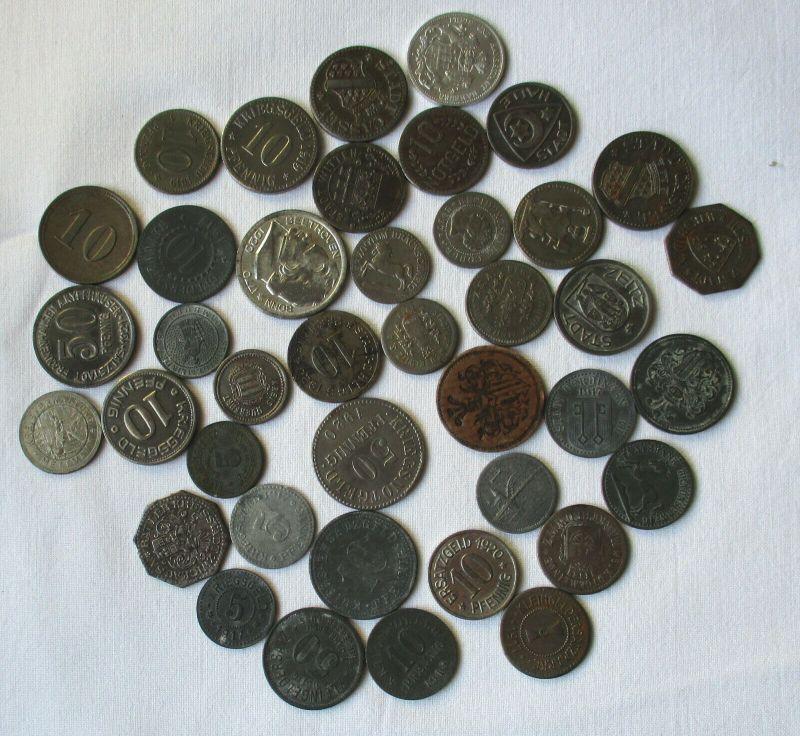 Kleine Sammlung mit 40 Münzen Notgeld Deutschland 1.Weltkrieg (118728)
