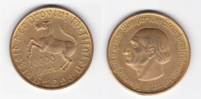 10000 Mark Notgeld der Provinz Westfalen 1923 Jäger Nr. 20a (129943)