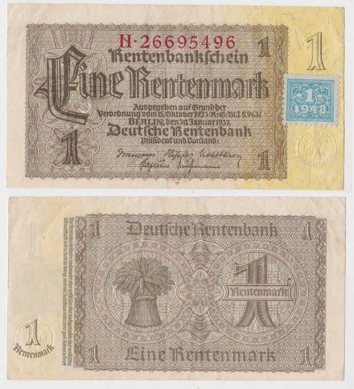 1 Mark Banknote DDR Deutsche Notenbank 1948 Kuponausgabe Ro.Nr.330 b (131818)